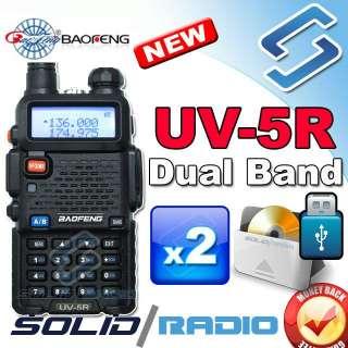BAOFENG UV 5R 136 174 400 480Mhz dual band radio + USB program