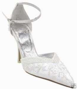 Carlo Fellini Casablanca White Bridal Heel Leather Shoe