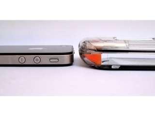 iSeal Orange ultra waterproof clear case housing for Apple iPhone 4/4S
