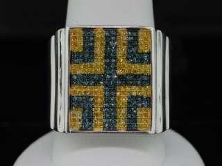 MENS WHITE GOLD FINISH 0.76 CT DIAMOND PINKY RING PAVE