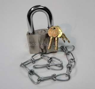 Greenleaf 0881 Enviromental Padlock New With Chain Heavy Duty Outdoor