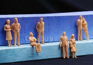 100 Unpainted Figures O Scale 150 Model Train People