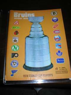 1974 BOSTON BRUINS STANLEY CUP PLAYOFFS PROGRAM