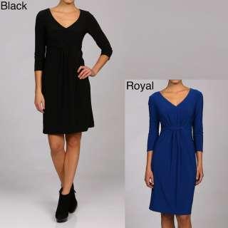 Tiana B. Womens Jersey Knit 3/4 sleeve Dress Medium