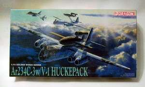 Dragon 1/72 5011 WWII German Ar234C 3 w/V 1 HUCKEPACK