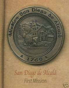 SAN DIEGO de ALCALA California Mission Lapel Pin