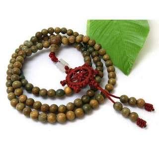 Tibet Buddhism 108 Green Sandalwood Prayer Bead Mala Necklace