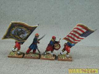 28mm Ameriacn Civil War WDS painted Zouaves 1861 1865 d1