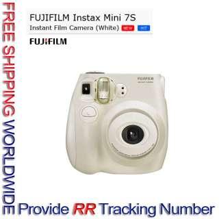 Fujifilm Instax Mini 7s Point & Shoot Film Camera Polaroid WHITE *Free