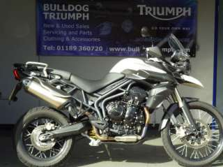 TRIUMPH TIGER 800 XC ABS IN CRYSTAL WHITE