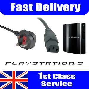 PS3 Power Cable Brand New 5Amp High Quality UK 1.8m
