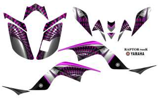 YAMAHA Raptor 700 Atv Quad Graphics Decal Kit Hot Pink