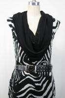 Joseph Ribkoff Black/White Animal Print Cocktail Dress Size 6 8 10 New
