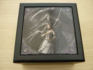 SUMMON THE REAPER GOTHIC STORAGE TILE BOX ANNE STOKES