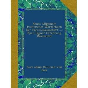 Bearbeitet (German Edition) Karl Adam Heinrich Von Bose Books