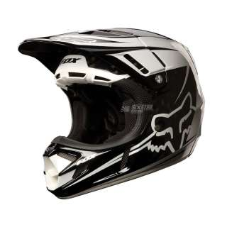 FOX V4 CARBON helmet BLACK/WHITE LG casque FOX V4 CARBONE