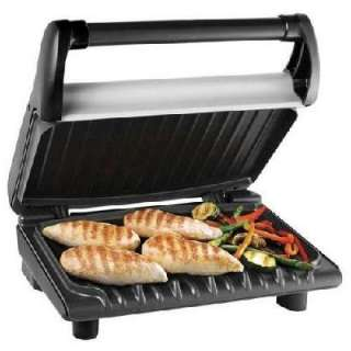George Foreman Big Family 5 Portion Grill Square Matt Silver