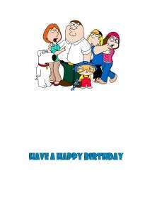 PERSONALISED FAMILY GUY RUDE FUNNY BIRTHDAY CARD