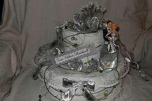 Silber Hochzeit Handtuchtorte Geldgeschenk Geschenk 25 Jahre
