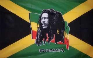 BOB MARLEY Jamaica 5 x 3 FLAG REGGAE RASTA RASTAFARIAN