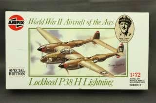 NOS Plastic Model Kit Plane AIRFIX WWII Lockheed P38 H Lightning 1:72