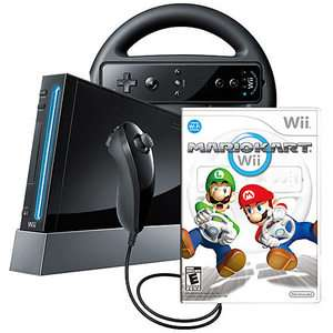 Nintendo Wii Mario Kart Pack Black Console PAL 0045496342920