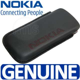 London Magic Store   Genuine Nokia Black Leather Pouch Case Cover For