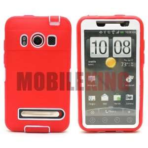 (MOBILE KING) Dual Ultra Rugged Protector Case ¡V Red