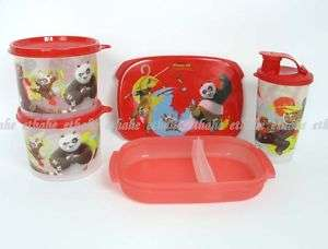 Tupperware New KUNG FU PANDA Bento Lunch Box Set GTFL