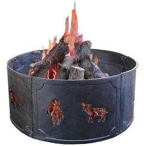 Landmann Wildlife Black Cast Iron Fire Ring Patio, Lawn