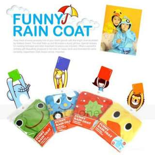 Girl Cute Funny Cartoon Hoodie Rain Outwear Cover Coat Raincoat