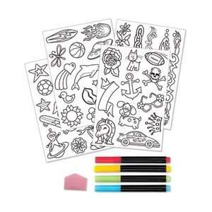 Creativity For Kids Activity Kits Color In Tattoo Party Makes 40 14CK