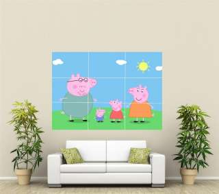 Peppa Pig Giant Wall Art Poster CR114