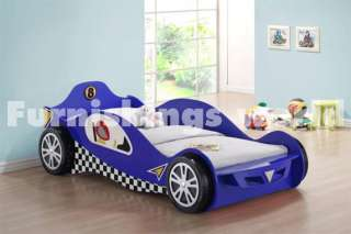 Blue Kids Racing Car Beds Childrens Toddler Bed Frame
