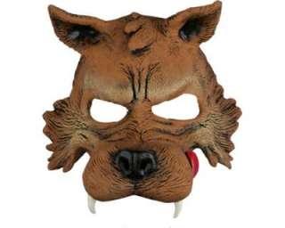 Costume Halloween e Carnevale Maschera Lupo Cattivo a mezzo viso