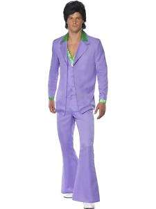 Mens Light Purple Suit 70s 80s Fancy Dress ALL SIZES