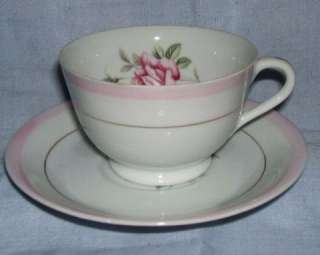Royal Sealy Japan China Footed Teacup & Saucer Set