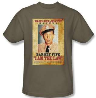 ANDY GRIFFITH SHOW   Barney Fife / I Am the Law T Shirt