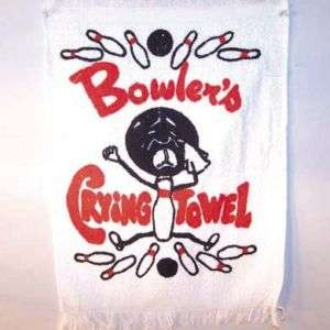 BOWLERS funny CRYING TOWEL bowling joke gag towels