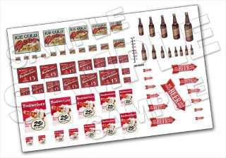 HO Scale   Beer Sign Sheet   Multiple Sizes
