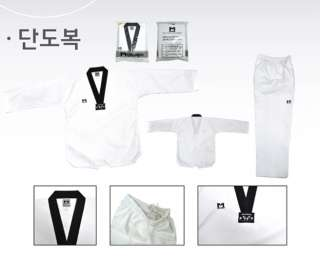 TaeKwonDo uniform TKD DAN DOBOK Black collar uniforms + Black Belt TAE