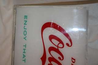 Vintage 1962 Coca Cola Plastic Vending Machine Sign Coke Soft Drink