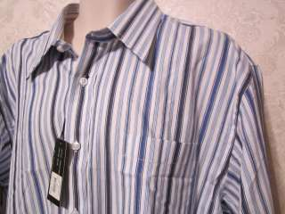 mens michael brandon striped dress casual shirt XXL nwt