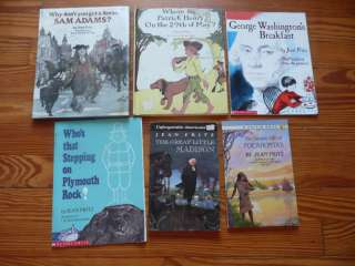 Lot 6 JEAN FRITZ history books POCAHONTAS American