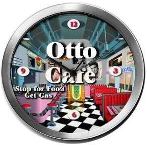 OTTO 14 Inch Cafe Metal Clock Quartz Movement:  Kitchen