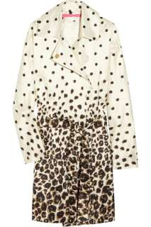 Emanuel Ungaro Animal print satin trench coat   85% Off Now at THE