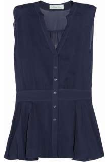 Geren Ford Sleeveless silk shirt   65% Off Now at THE OUTNET