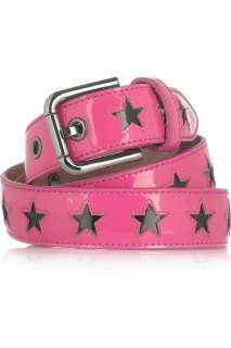 Dolce & Gabbana Star cutout patent leather belt   65% Off Now at THE
