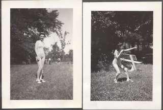 Vintage Photos Sunshine Pin Up Girl in Saddle Shoe Action Pose 693751