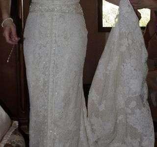 Vestido de novia segunda mano y/o velo tul seda (11915434)